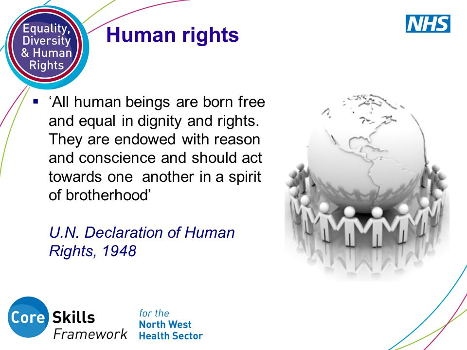  'All human beings are born free and equal in dignity and rights.