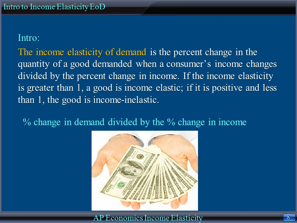 9 9 If E Q X,M > 0, then X is a normal good.Higher income M implies higher demand.