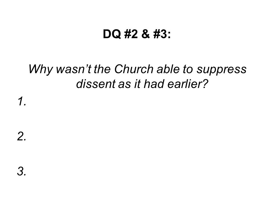 III. Overview 1.Why did the Reformation start in Germany? DQ #4 a) b)