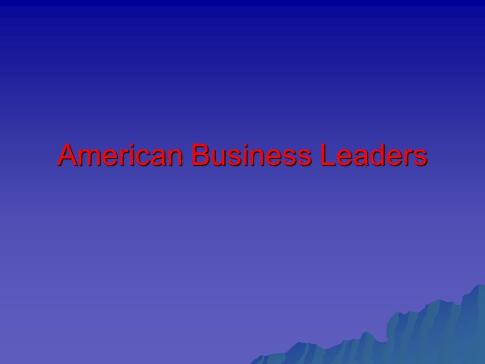 American Business Leaders