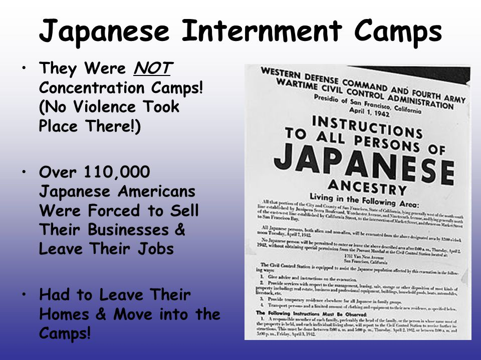 Japanese Internment Camps They Were NOT Concentration Camps! (No Violence Took Place There!) Over 110,000 Japanese Americans Were Forced to Sell Their