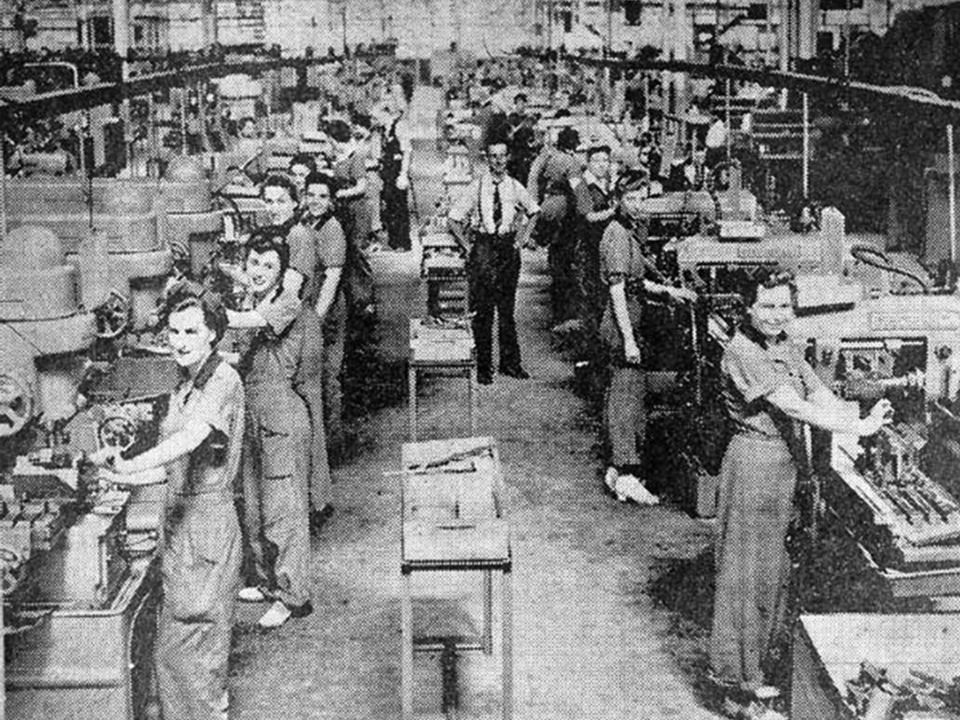 Women in the Work Force Men from 18-38 Were Drafted Women Were Needed to Work in the Factories 1940 – 14 Million Women Worked (25% of the Work Force) 1945 – 19 Million Women Worked (30% of the Work Force)