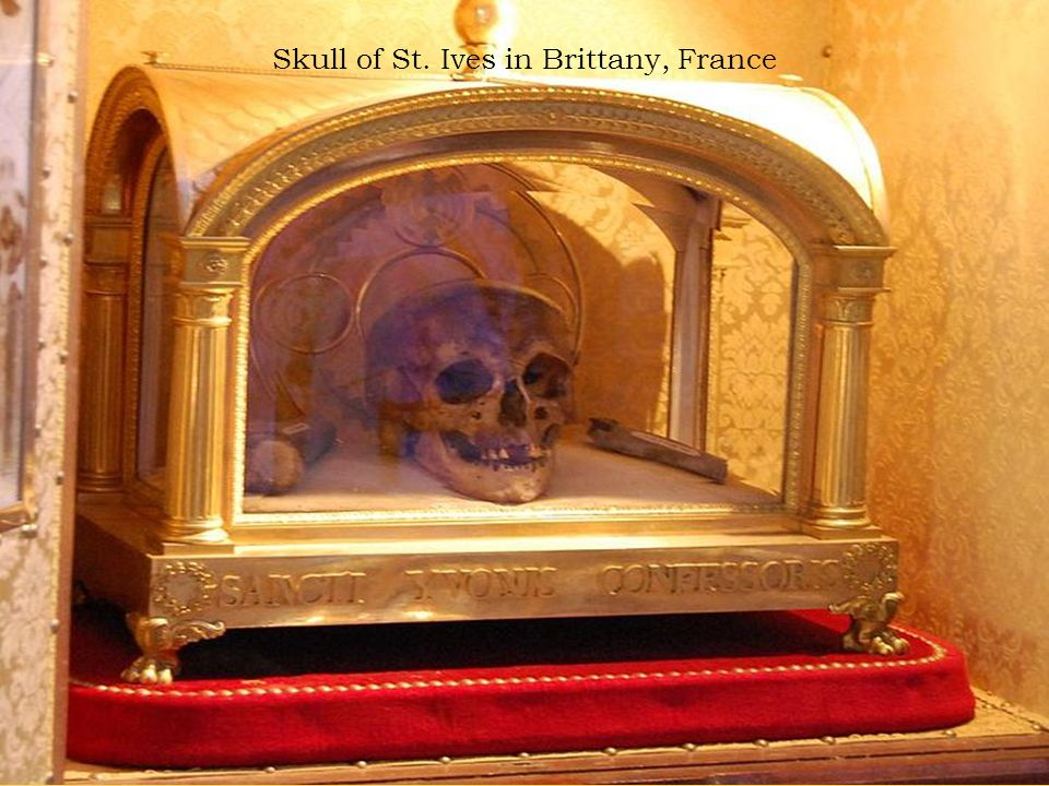 Skull of St. Ives in Brittany, France
