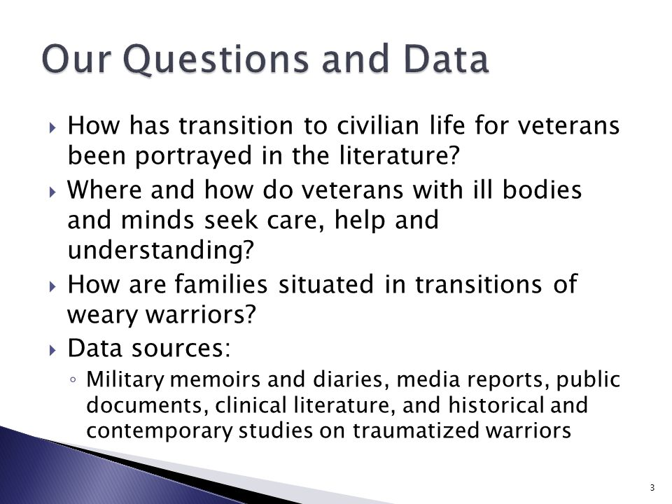  How has transition to civilian life for veterans been portrayed in the literature.