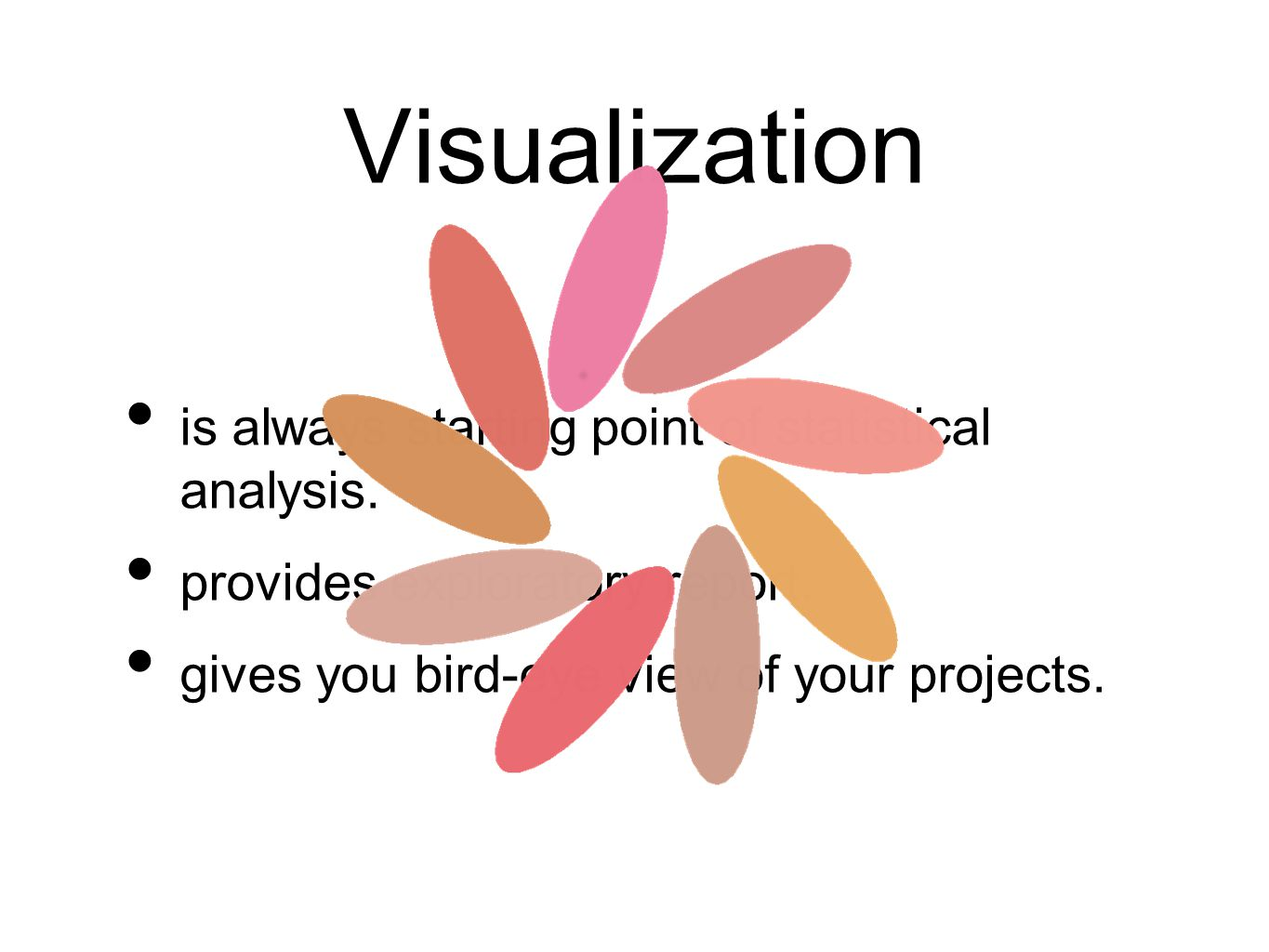 Visualization is always starting point of statistical analysis.