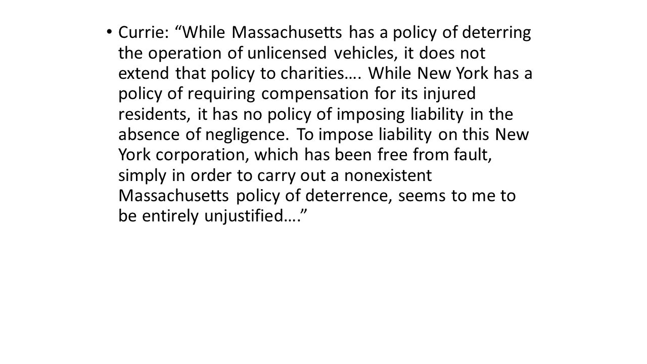 Currie: While Massachusetts has a policy of deterring the operation of unlicensed vehicles, it does not extend that policy to charities….