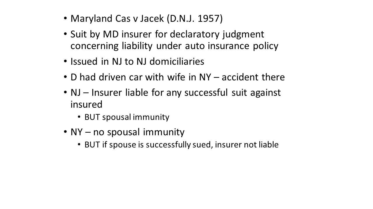 Maryland Cas v Jacek (D.N.J.