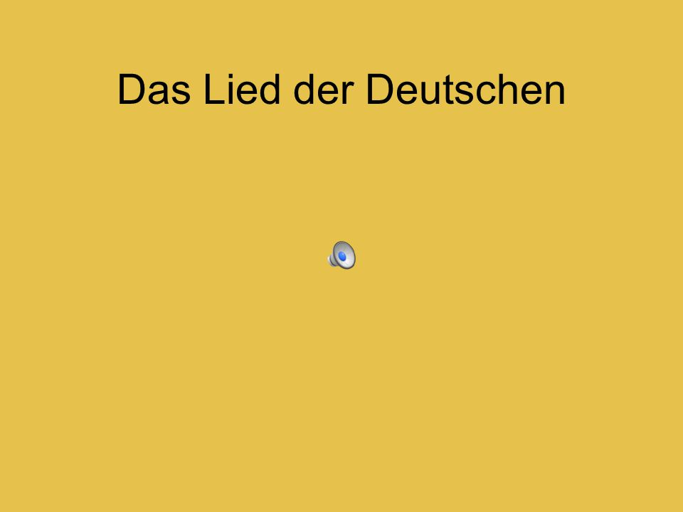 Das Lied der Deutschen