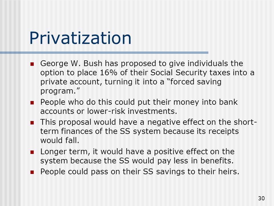 30 Privatization George W.