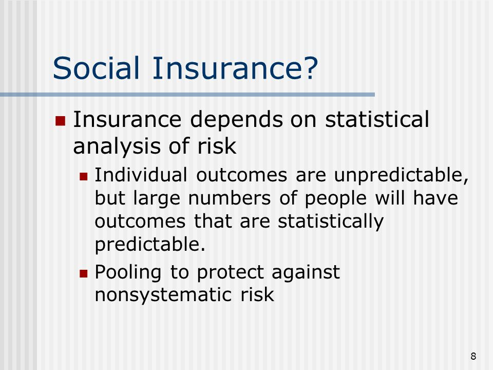 8 Social Insurance.