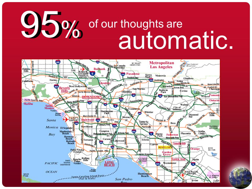 of our thoughts are 95 % automatic.