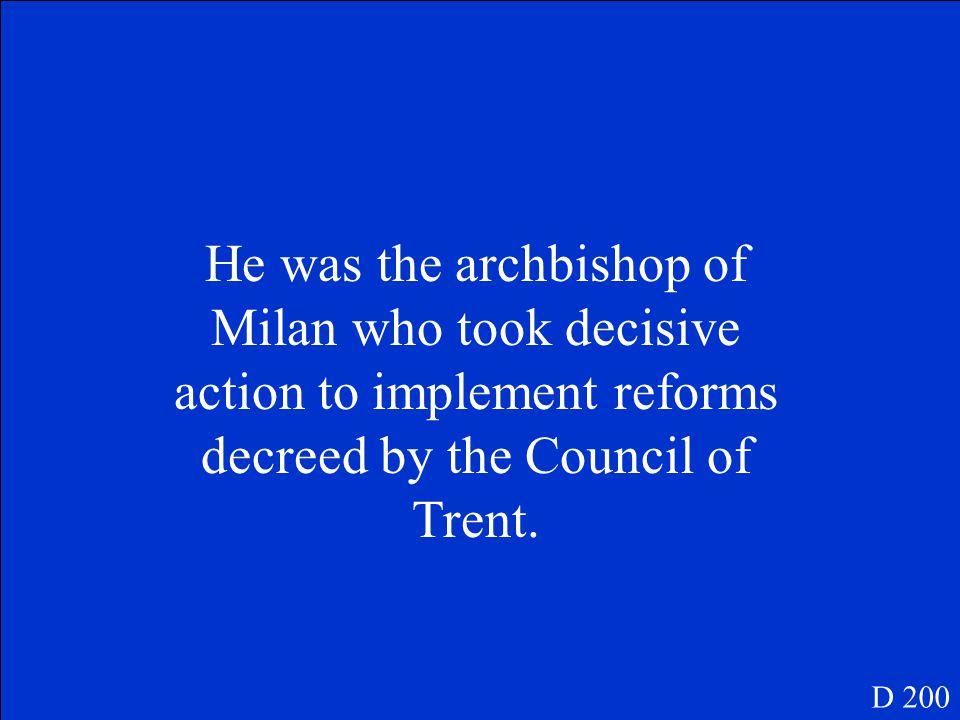 This is the name given to the church court of Rome where people were tried when they were accused of being Protestant. D 100