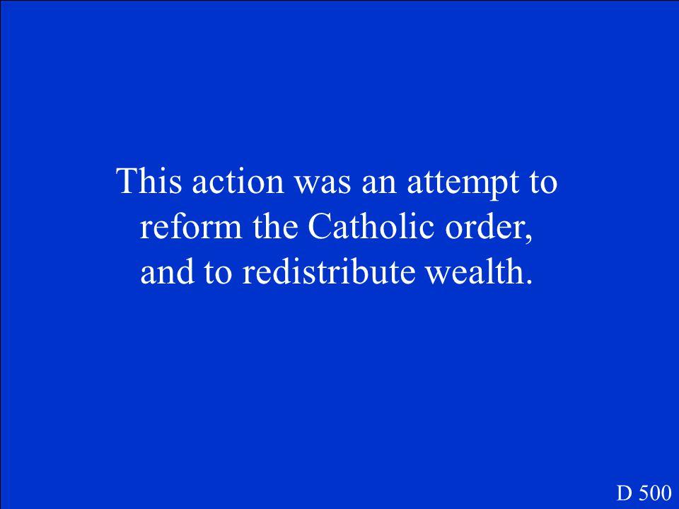 This nun restored the Carmelite order. D 400