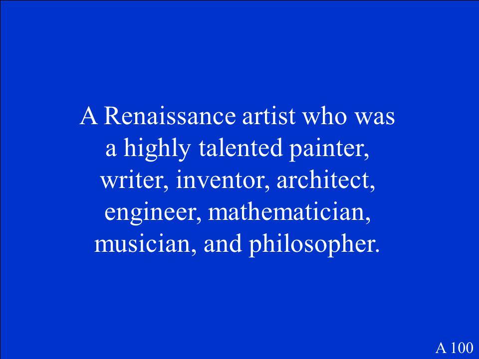 100 200 300 400 500 Renaissance Artists Renaissance Writers Protestant Reformation Counter Reformation Pot Luck Famous People