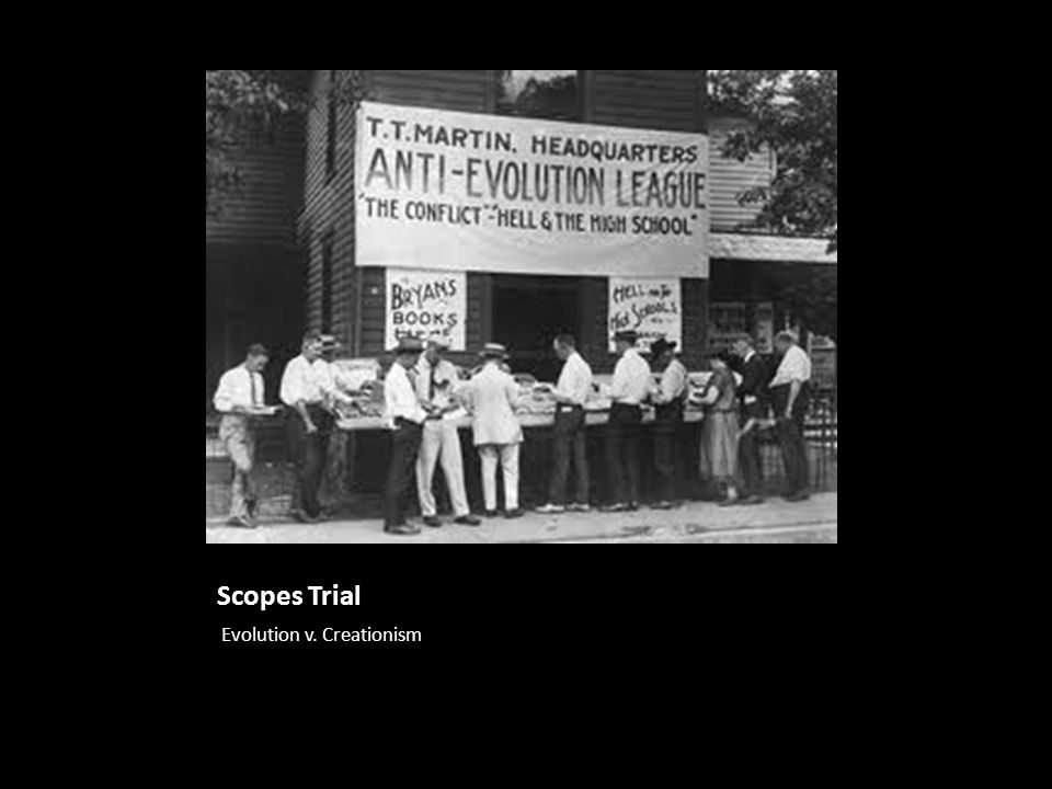Scopes Trial Evolution v. Creationism