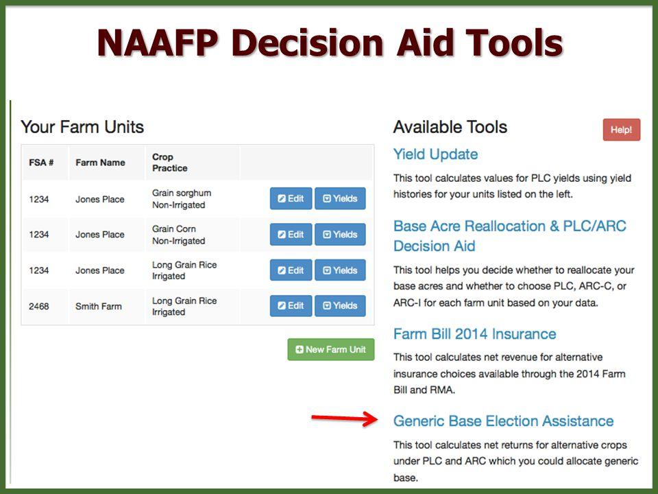 NAAFP Decision Aid Tools