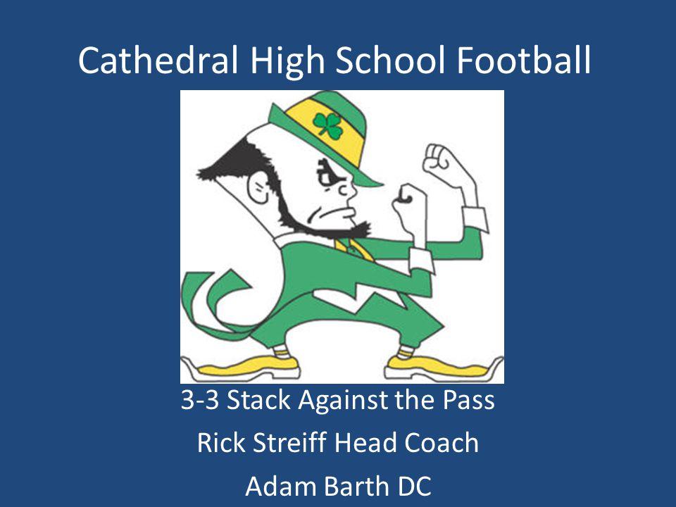 Cathedral High School Football 3-3 Stack Against the Pass Rick Streiff Head Coach Adam Barth DC