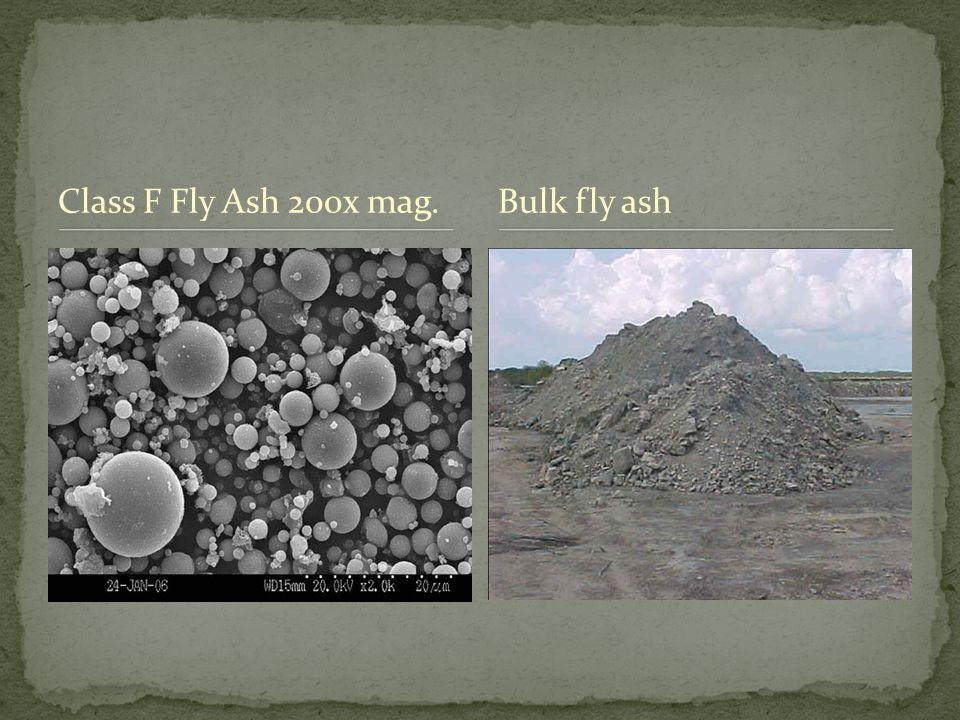 Class F Fly Ash 200x mag.Bulk fly ash