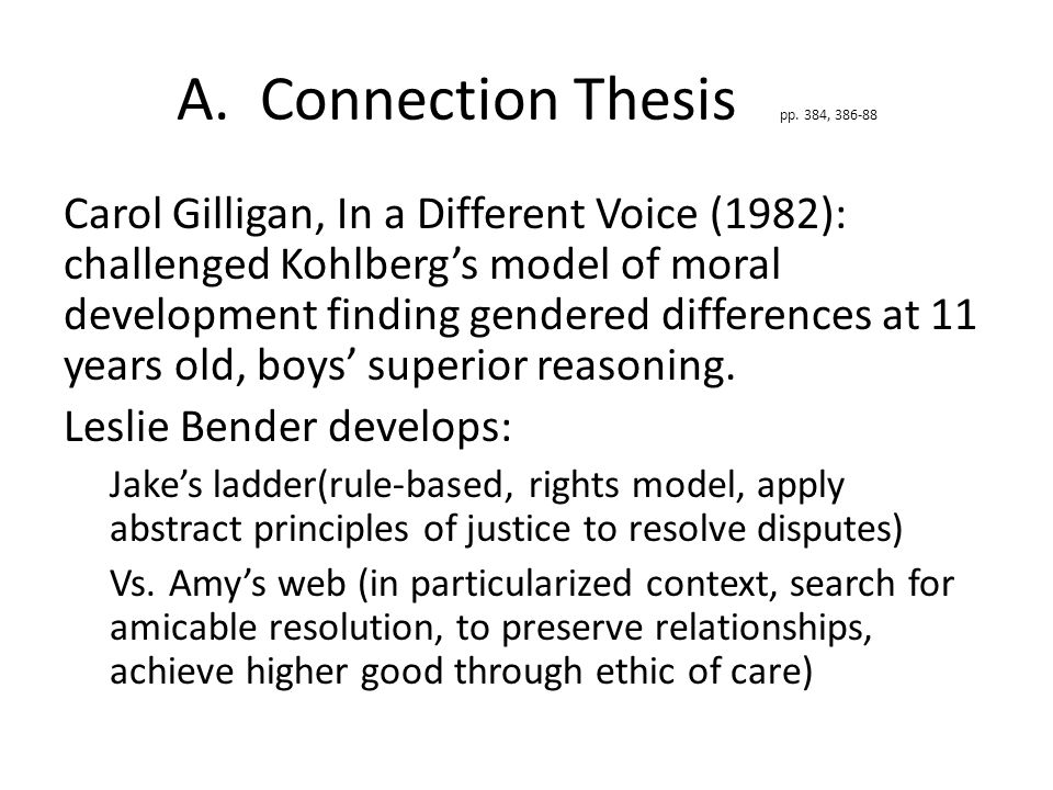 A. Connection Thesis pp.