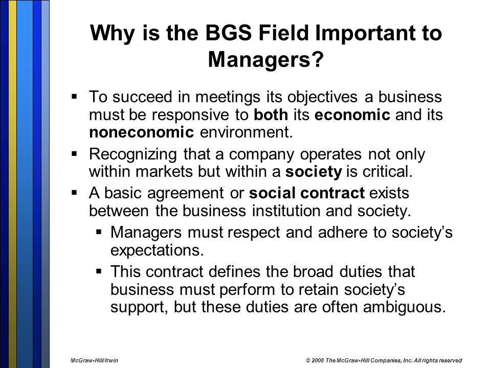 Why is the BGS Field Important to Managers.