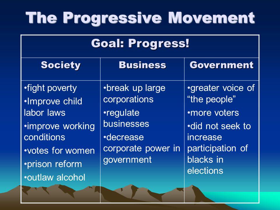 The Progressive Movement Goal: Progress.