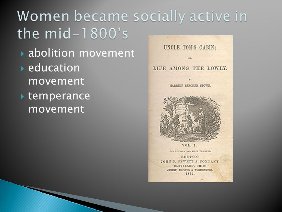  abolition movement  education movement  temperance movement