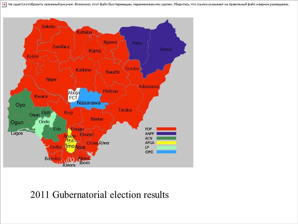 2011 Gubernatorial election results