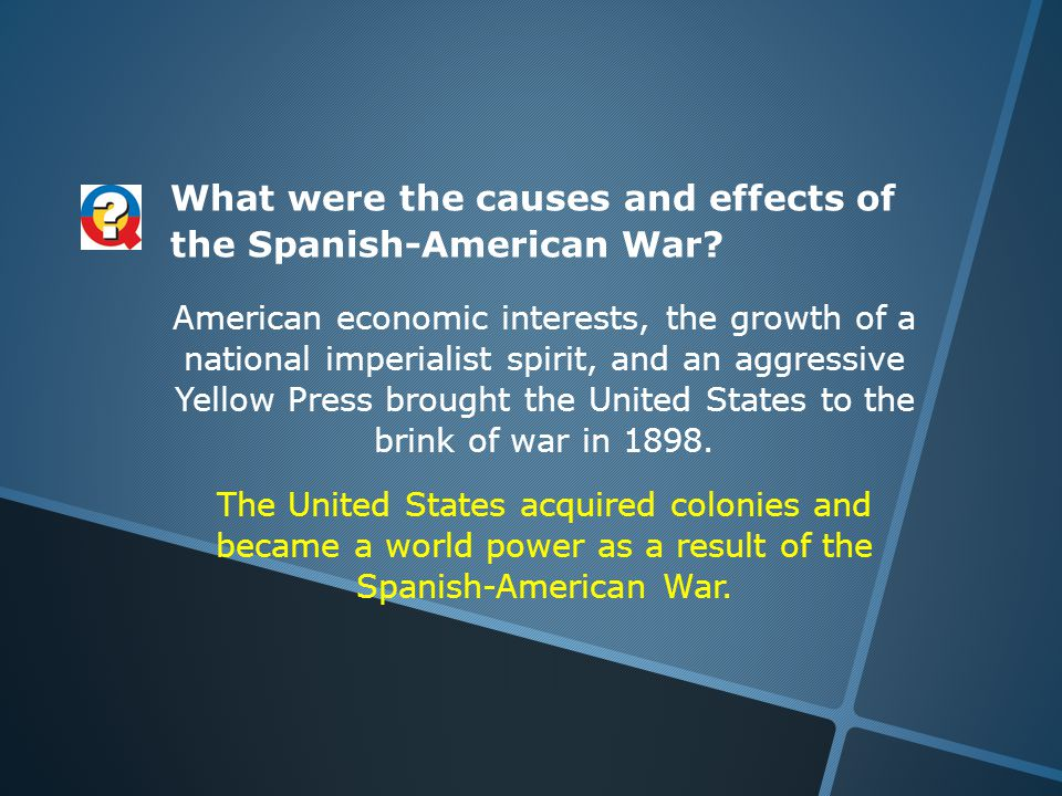 What were the causes and effects of the Spanish-American War.