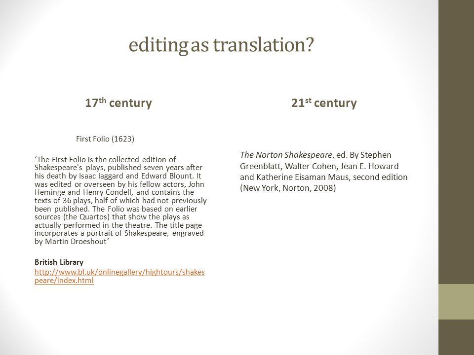 editing as translation.