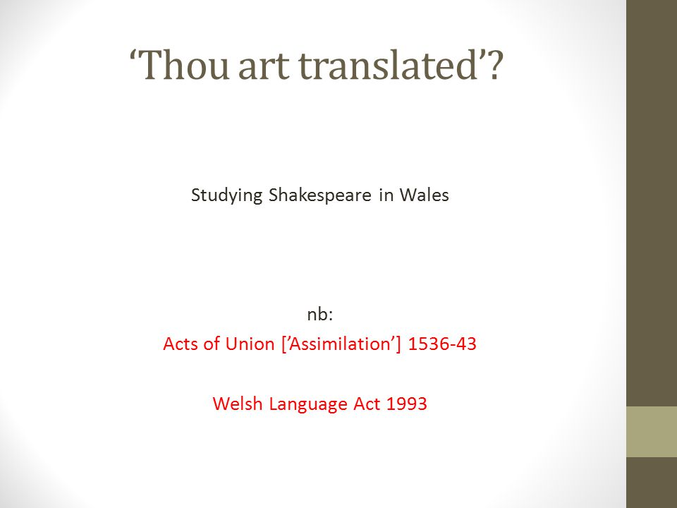 'Thou art translated'.