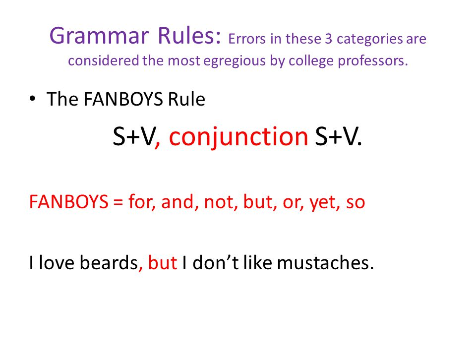 Grammar Rules: Errors in these 3 categories are considered the most egregious by college professors.