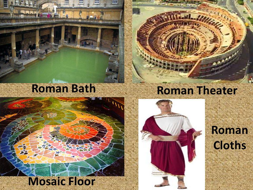 Roman Bath Roman Theater Mosaic Floor Roman Cloths