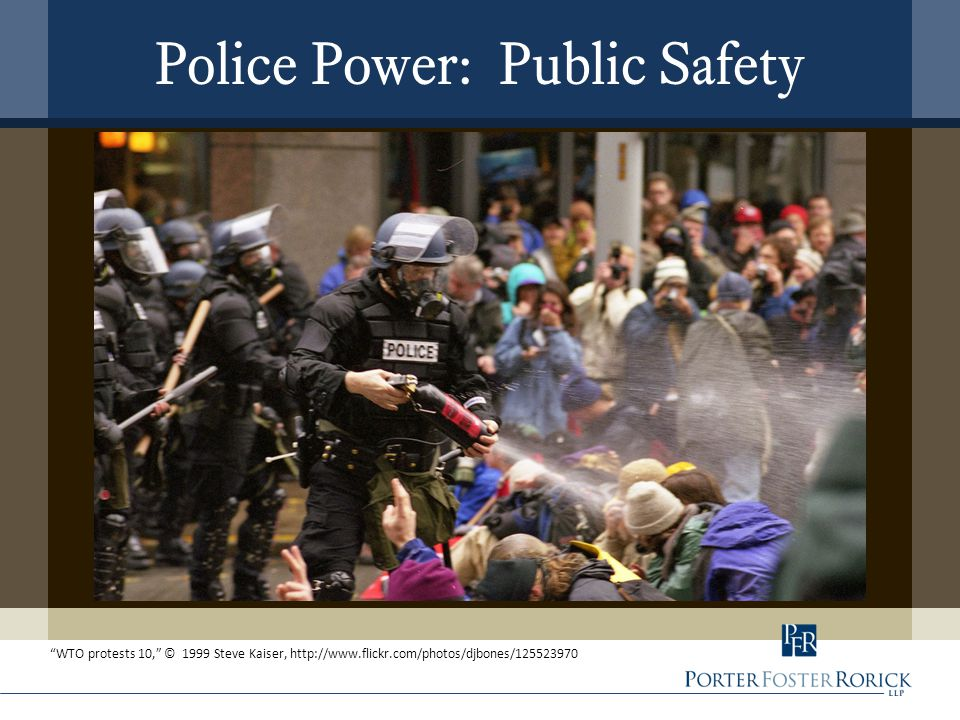 Police Power: Public Safety WTO protests 10, © 1999 Steve Kaiser, http://www.flickr.com/photos/djbones/125523970