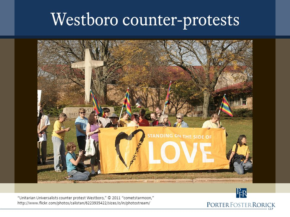 Westboro counter-protests Unitarian Universalists counter protest Westboro, © 2011 cometstarmoon, http://www.flickr.com/photos/calistan/6223935422/sizes/o/in/photostream/