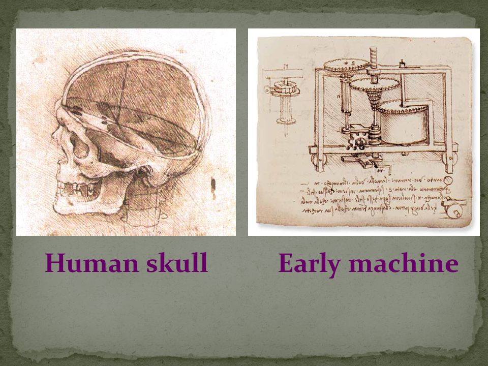 Human skullEarly machine