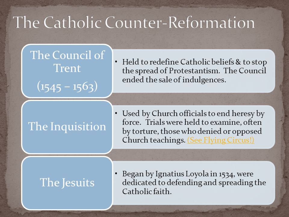 Held to redefine Catholic beliefs & to stop the spread of Protestantism.