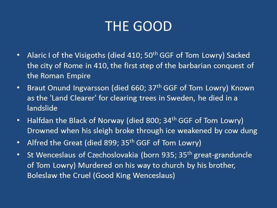 LOWRY ANCESTORS THE GOOD