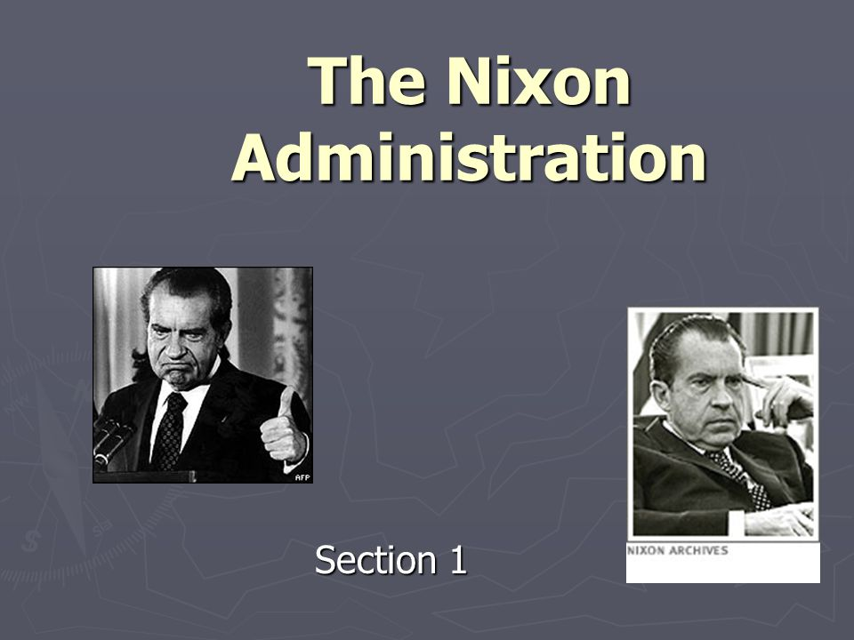 One of the biggest problems facing Nixon was a weak economy.