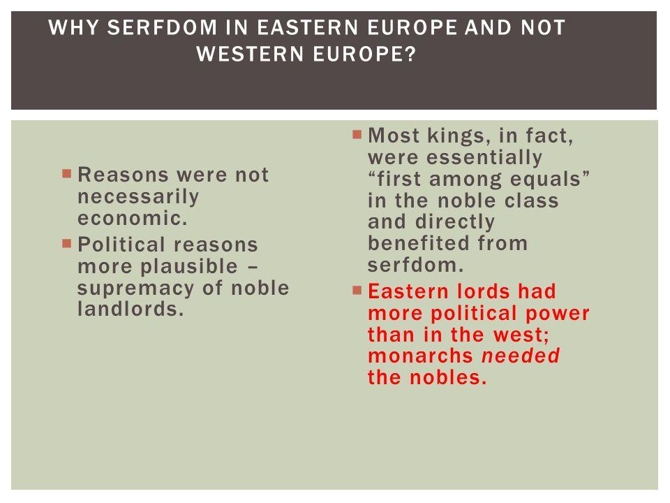 Reasons were not necessarily economic.