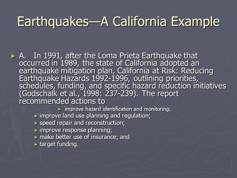 Earthquakes—A California Example ► A.