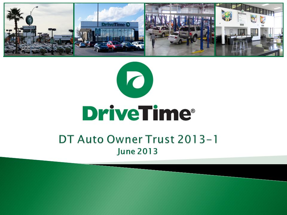 22 100 DriveTime Dealerships – All Company Owned Typical Dealership Units sold per month55 Vehicle inventory74 Sales financing100% of sales Staffing10 – 15 retail and ops employees Dealership building size5,000 sf Leasehold improvements & equipment $595K Typical lease term5 years, with option for 5 to 15 years Note: Information is based on the twelve months ended March 31, 2013.