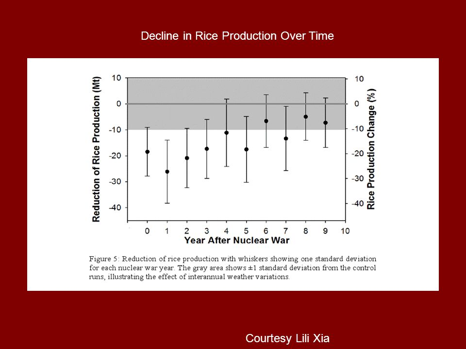 Decline in Rice Production Over Time Courtesy Lili Xia