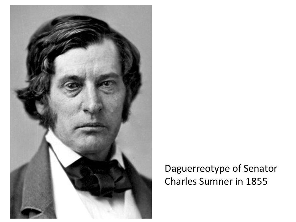 Daguerreotype of Senator Charles Sumner in 1855