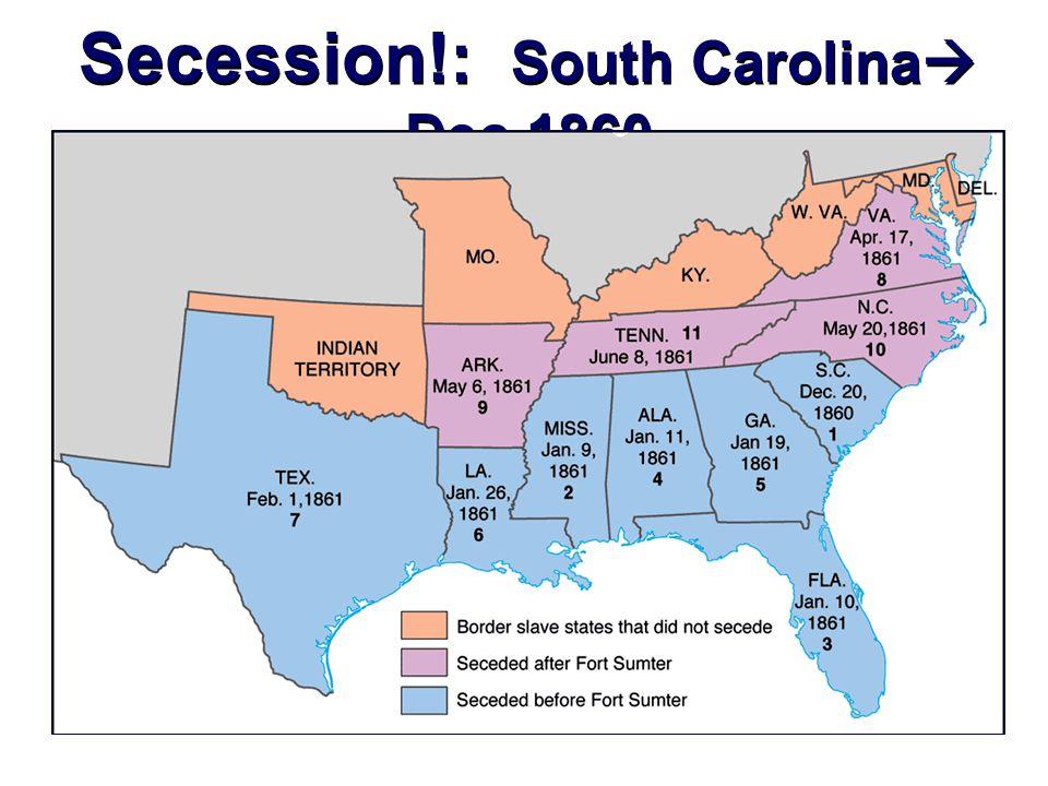 Secession!: South Carolina  Dec.1860