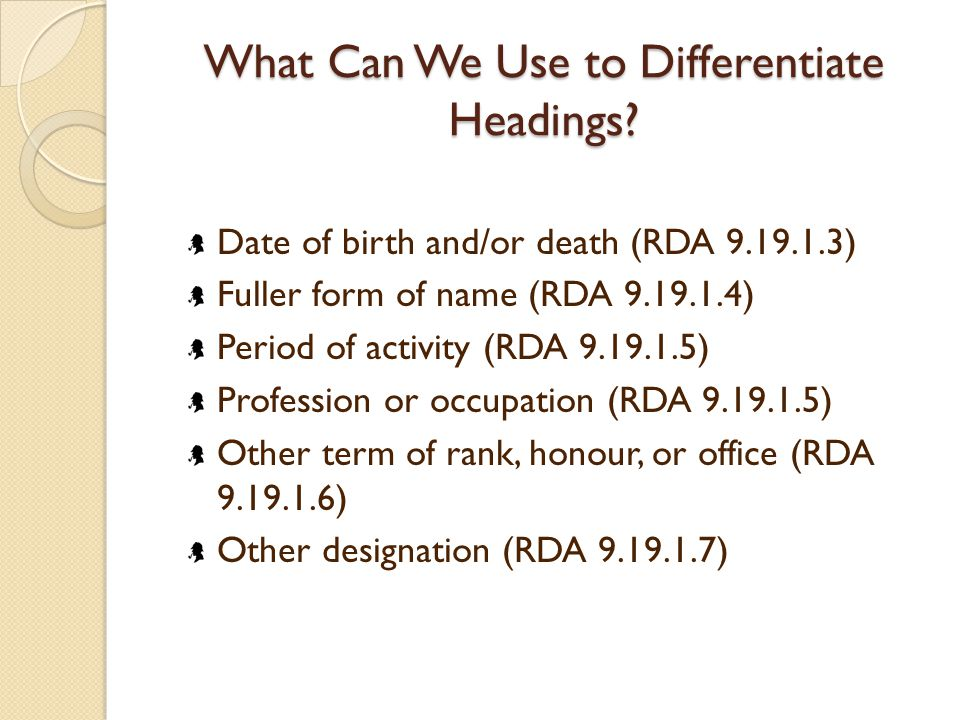 What Can We Use to Differentiate Headings.