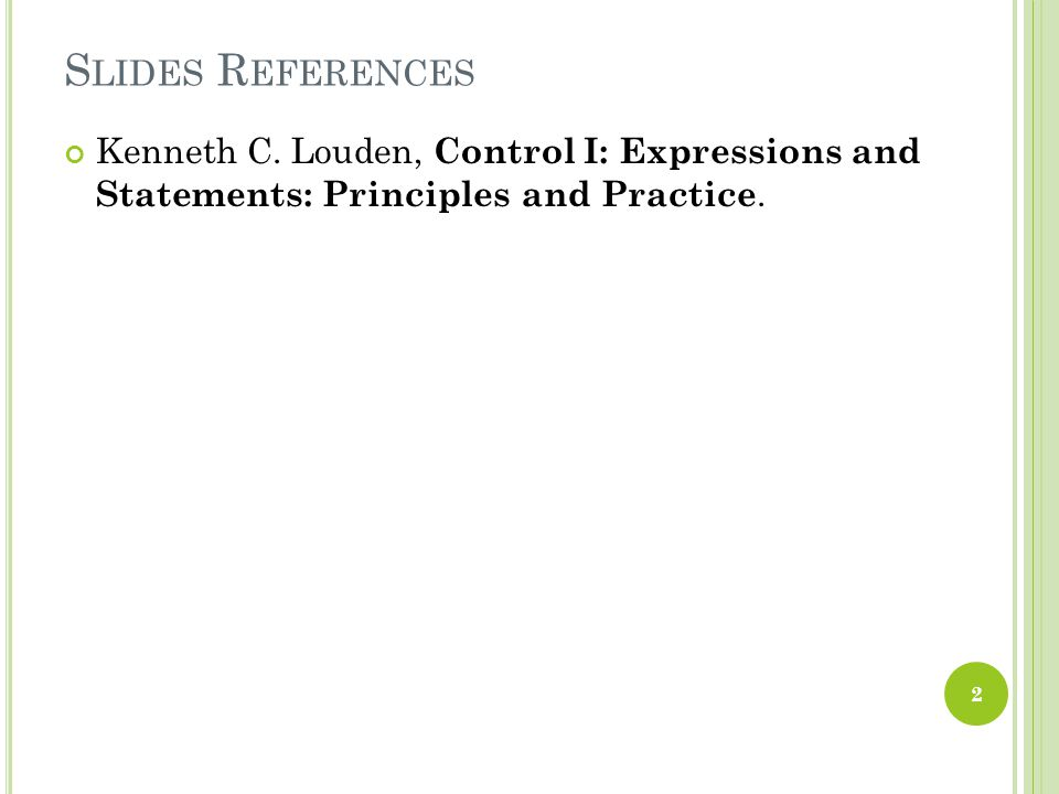 S LIDES R EFERENCES Kenneth C.