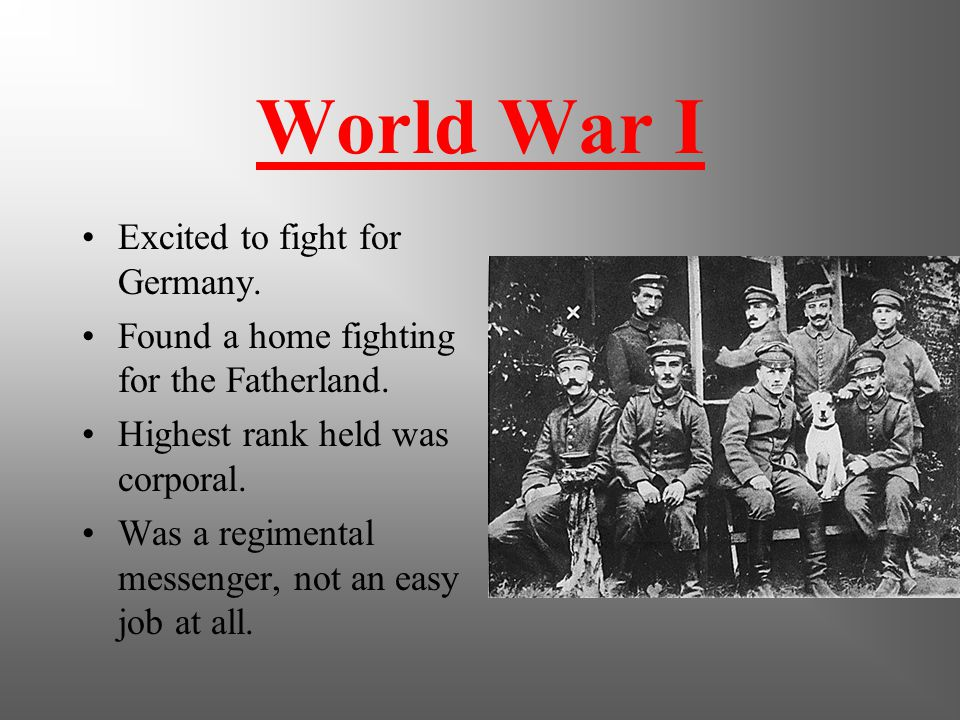 Military Service Leaves Austria at the age of 24 to avoid mandatory military service that was required of all men.
