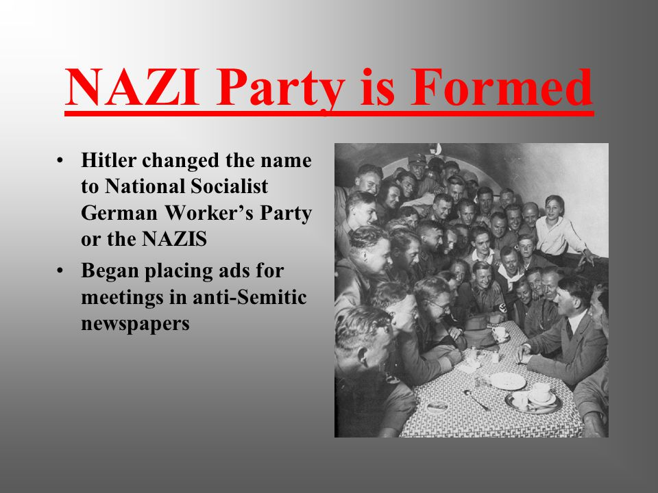 Post WW I Blame it on the Jews and the Marxists Psycho! Working for military stumbles on German Workers Party