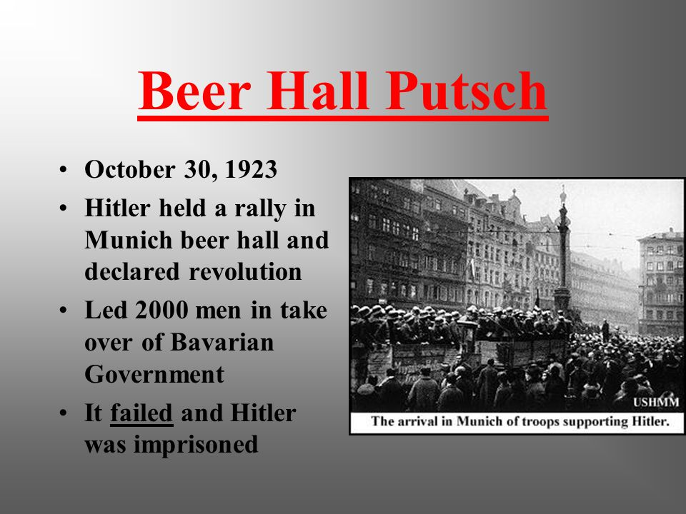 Party Platform Hitler drafted a platform of 25 points Revoke Versailles Treaty Revoke civil rights of Jews Confiscate any war profits SWASTIKA was ado