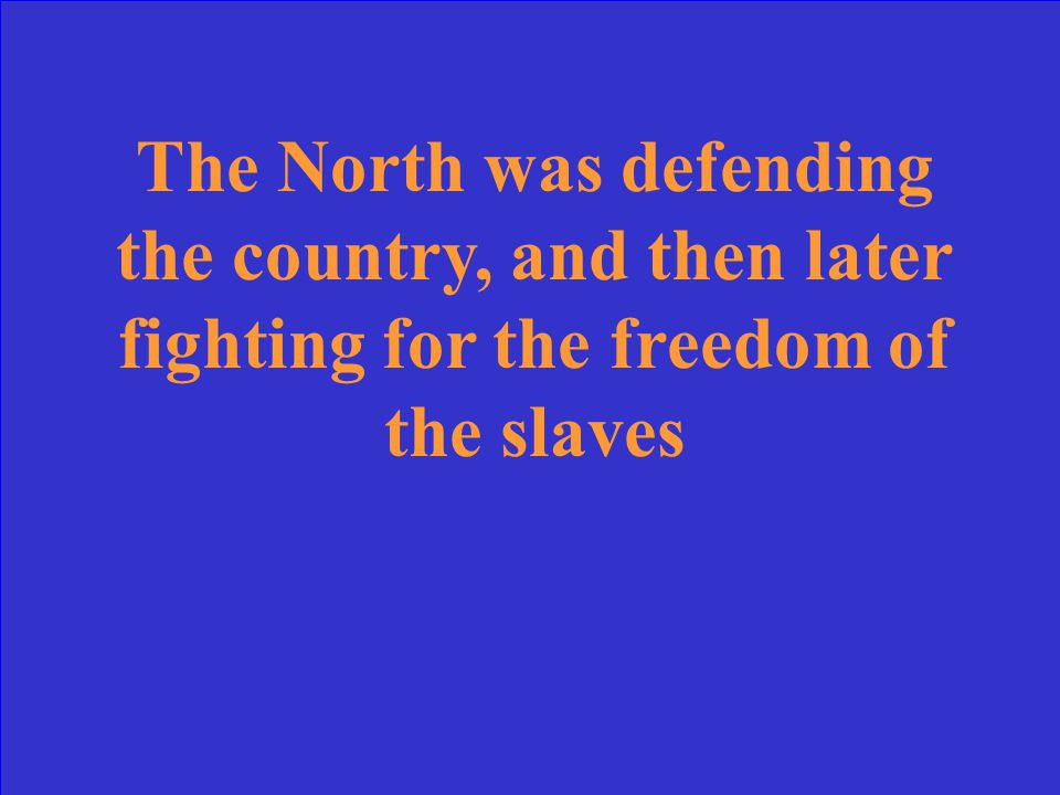 What was the Northern perspective on the cause of the war?